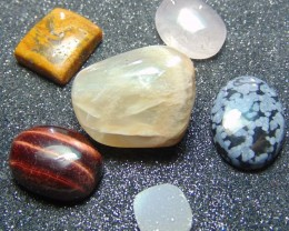 Mix colors cabochons& tumbles Stone  cabs stones 184.80 cts