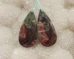 36ct Natural dragon blood gemston bead earring beads (18091332)