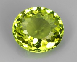 3.50 CTS AMAZING NATURAL GREENISH YELLOW RARE LUSTROUS OVAL TOURMALINE NR!
