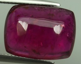 13.90 CTS MAJESTIC RARE NATURAL CUSHION PINKISH RED -RUBELITE~CABOCHONS MOZ