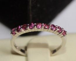 Natural Rhodolite Garnet Ring Size (6 1/4) 0223