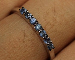 Natural Sapphire Silver Ring Size (6) 0232