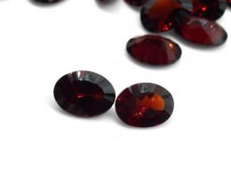 2 Stones Concave  Cut 2.6cts Almandine Garnet - $1 No Reserve Auction