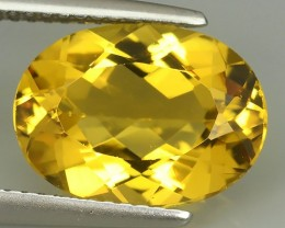 3.95 CTS REMARKABLE! OVAL FACET GOLDEN BERYL NATURAL