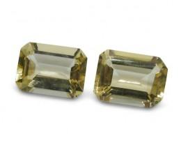 2 Stones - 1.7 ct Heliodor 7x5mm Octagon