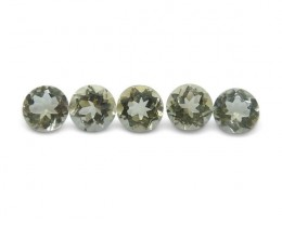 5 Stones - 1.75 ct Heliodor 4.5mm Round