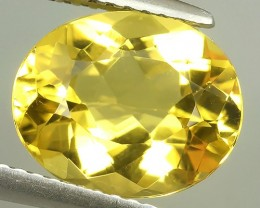 3.65 CTS.REMARKABLE! OVAL FACET GOLDEN BERYL NATURAL