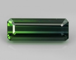 7.35 CTS MAJESTIC RARE NATURAL OCTOGON  GREEN TOURMALINE MOZAMBIQ