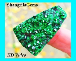 38mm Uvarovite Garnet 58ct from Ural Mountains Russia 38 by 23 by 6.5mm