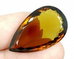 36.55Crt Madeira Citrine  Best Grade Gemstones JI100