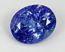 4.15Crt Natural Tanzanite  Best Grade Gemstones JI100