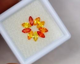 1.64ct Orange Yellow Sapphire Marquise Cut Lot V2397