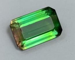 3.90 cts VS Apple Green Bicolor Tourmaline - Super Bright Flashy