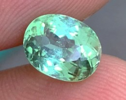 2.58 cts VS Glowing Mint Green Tourmaline - Nuristan Province