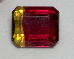 3.40 cts Ruby Red / Gold Bicolor Tourmaline - Stunning (Brazil)