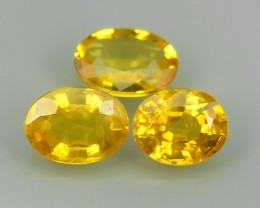 2.35 CTS EXCELLENT NATURAL ULTRA RARE FANCY -YELLOW-MADAGASCAR SAPPHIRE