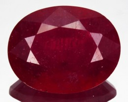 3.63 Cts Pigeon Blood red Ruby Composite Oval Cut Mozambique