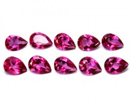 ~PARCEL~ 7.86 Cts Candy Pink Natural Topaz 7x5 mm 10 Pcs Pear Cut Brazil