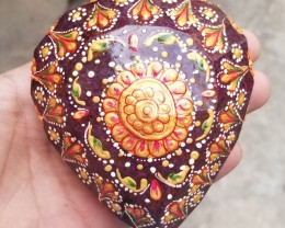 HUGE RUBY 4865 CARATS HUGE GEMSTONE HANDPAINTED ENAMELED GENUINE RUBY