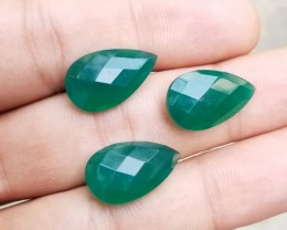 GREEN ONYX TRIO  Natural+Untreated VA487