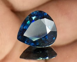 1.18 Cts Magnificent Top Color Sparkling Intense Blue Sapphire ~ As8