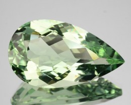 10.40 Cts Natural Prasiolite / Mint Green Amethyst Pear Cut Brazil