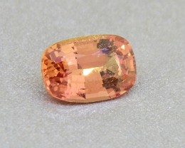CERTIFIED Unheated Natural Orange Sapphire 0.88ct (01286)