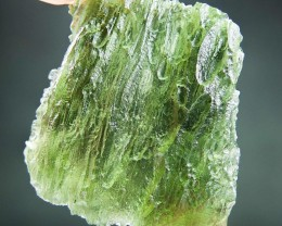 Certified Glossy Vibrant green Natural Moldavite