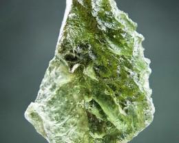 Glossy Raw Moldavite - Uncommon shape quality A+ CERTIFIED