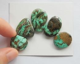 50ct Natural turquoise  cabochon bead 1 set wholesale  (18091437)