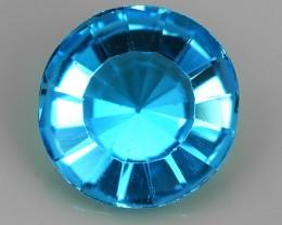 5.60CTS SUPERIOR! 11.70 MM ROUND FANCY CUT SWISS BLUE-TOPAZ GENUINE