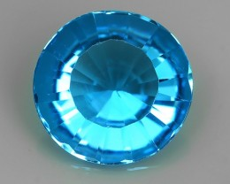 5.25 CTS DAZZLING NATURAL RARE 11.90 MM ROUND QUALITY LUSTER SWISS TOPAZ