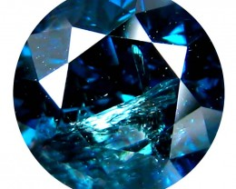 Certified Natural Blue Diamond - 0.89 ct