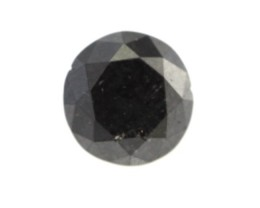 0.32cts Natural Diamond Blackened, Round Brilliant Cut.