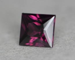 2.42 cts certified pinkish purple spinel.