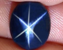 3.96 Carat Thailand Blue Star Sapphire - Gorgeous