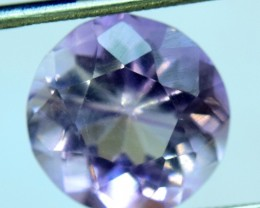 No Reserve 3.90 cts Round Cut Top Grade Quality Untreated Amethyst Gemstone
