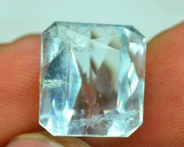 No Reserve 7.95 cts Natural Untreated Aquamarine Gemstone From Pakistan