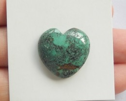 17.5ct Natural turquoise  cabochon bead heart shape  (18091441)