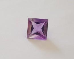 Pink Amethyst princess cut VVS 7.5 carats #G0052