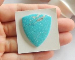 27.5ct Natural turquoise  cabochon bead customized jewelry  (18091462)