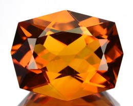 ~JEWELRY GRADE~ 6.21 Cts Natural AAA Golden Orange Citrine Fancy Cut Brazil