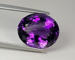 "13.00ct ""Top Quality Gem"" Amazing Oval Cut Natural Amethyst"