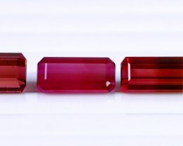 5Pcs 18.45 Ct Natural - Unheated Bi Color Tourmaline Gemstone