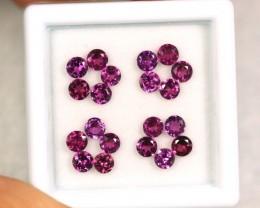 2.75cts 3mm Purple Red Rhodolite Garnet Round Lot 20pcs