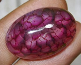 37.90 CT Beautiful Red Dragon Skin Chalcedony Agate