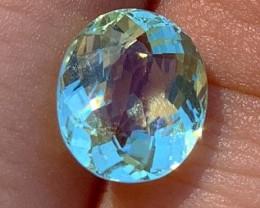 3.70 cts Seafoam Green Tourmaline - Gem Grade - Paprok Mine #6