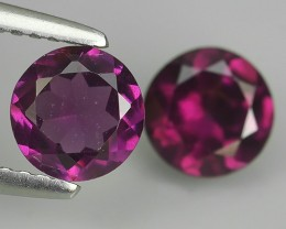 2.10 CTS TOP DAZZLING NATURAL ULTRA PURPUL RED COLOR RHODOLITE GARNET