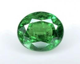1.40 Crt GIL Certified Tsavorite Faceted Gemstone