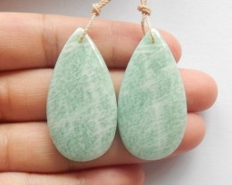 78.5ct Natural amazonite earring beads customized jewelry  (18091491)